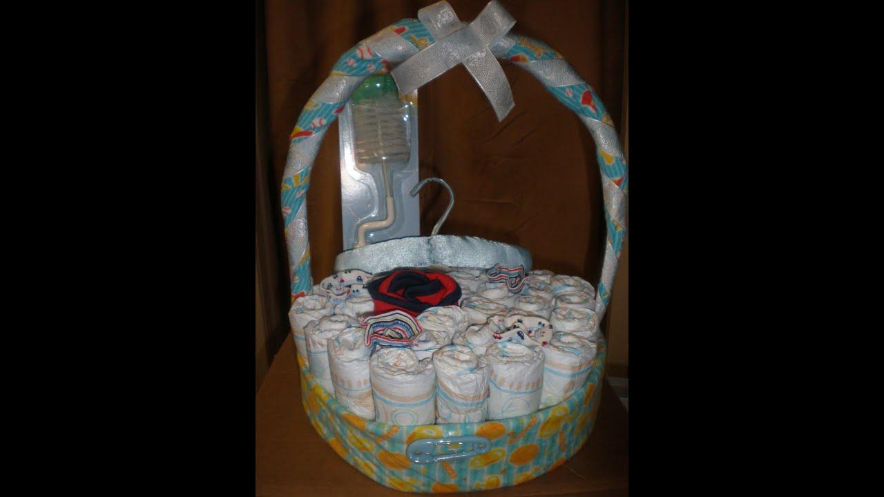 canasta de pa ales para baby shower youtube