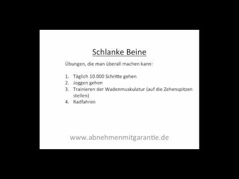 schlanke beine youtube. Black Bedroom Furniture Sets. Home Design Ideas