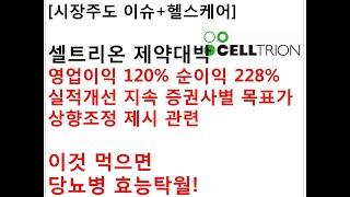 [시장주도 이슈+헬스케어]셀트리온 제약대박영업이익 12…