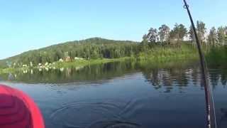 Ловля щуки на спиннинг в Челябинской обл, о. Аргази(Аргази, лето 2015., 2015-06-25T10:28:26.000Z)