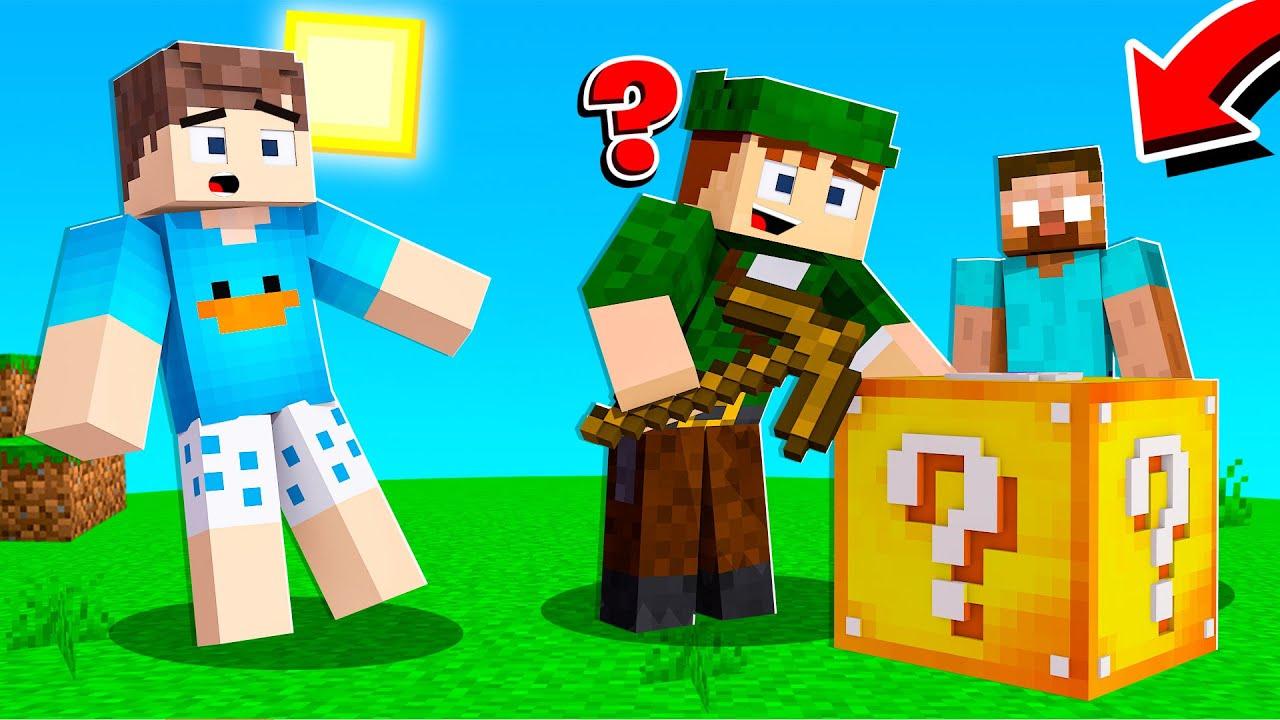 HEROBRINE APARECEU NO LUCKY BLOCK 100% SORTE!! - Minecraft Herobrine #49