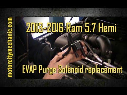 20132016 Ram 57 Hemi evap purge solenoid replacement