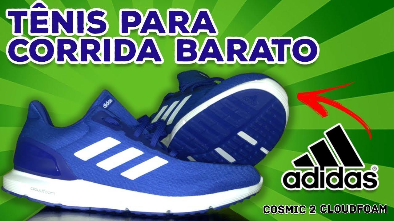 c1b9ac4cca Tênis para corrida barato Adidas Cosmic 2 Cloudfoam #unboxing - YouTube
