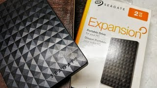 Seagate Expansion 2TB Portable Hard Disk Unboxing & Speedtest