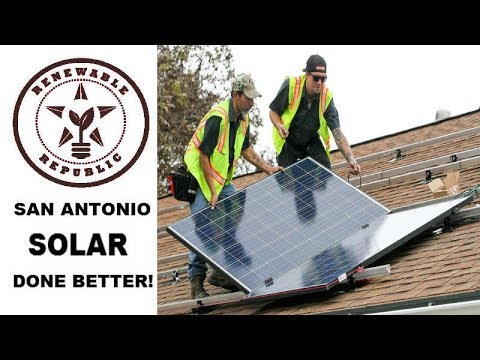 SAN ANTONIO SOLAR SERVICES COMPANY RENEWABLE REPUBLIC - Solar Power, Solar Panels Solar Energy