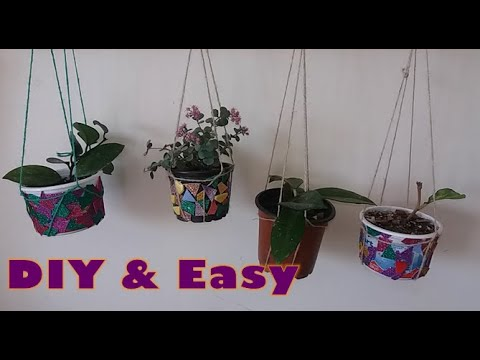 diy-one-minute-plant-hanger-//-diy-rope-hanger-//-super-easy-and-quick