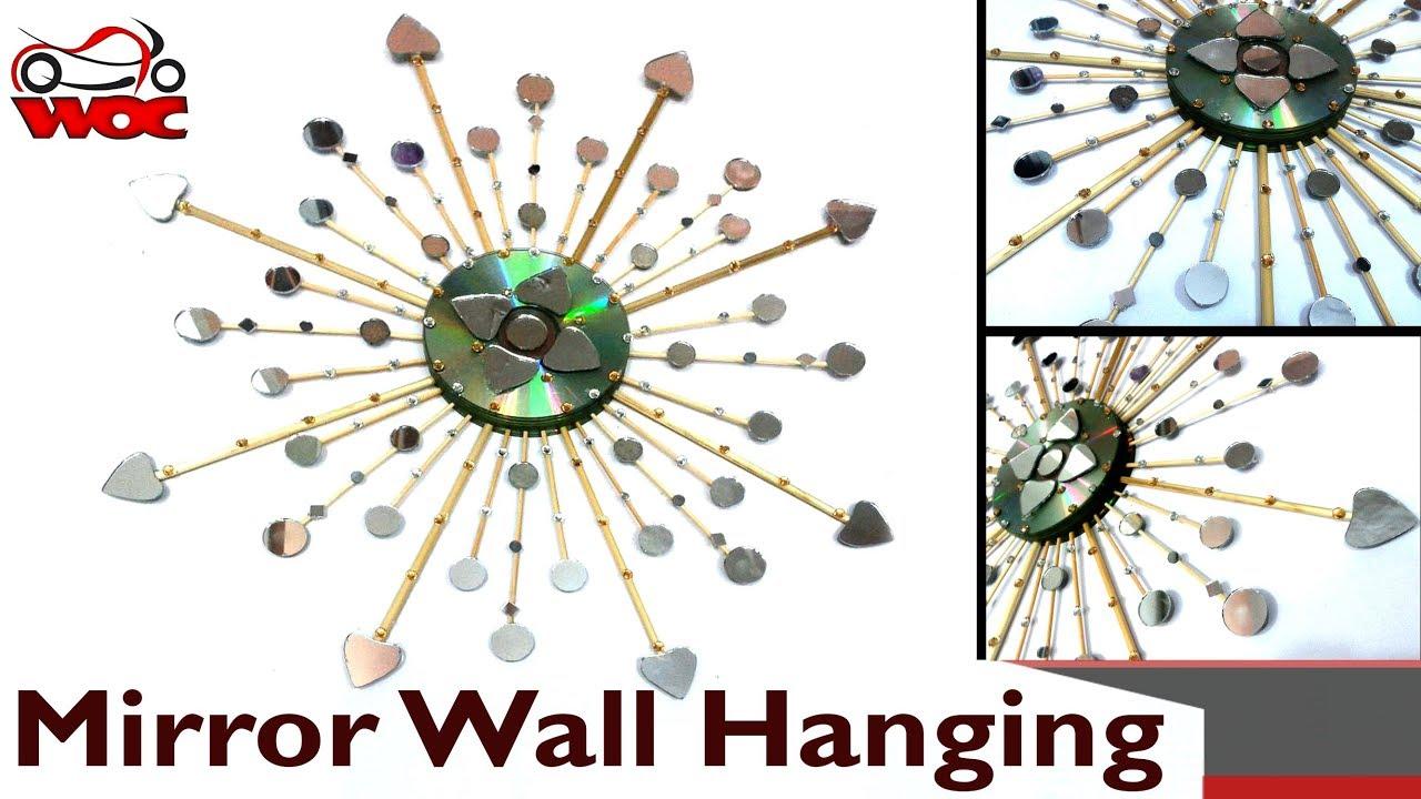 Diy sunburst mirror wall hanging use old cds into wall decor diy sunburst mirror wall hanging use old cds into wall decor amipublicfo Images