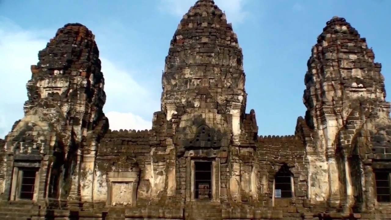 Thailand: Lop Buri - Phra Prang Sam Yot - YouTube