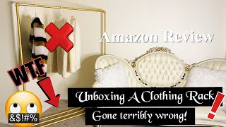 Unboxing A Clothing Rack: Gone Wrong