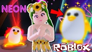 😱CONVERT TO MY GOLDEN PENGUIN IN NEON (ASOMBROSO) ADOPT ME🐧- ROBLOX