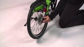 Installing the rear wheel on ElliptiGO Arc elliptical bike
