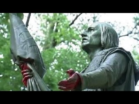 Memorials Vandalized By Columbus Day Protesters