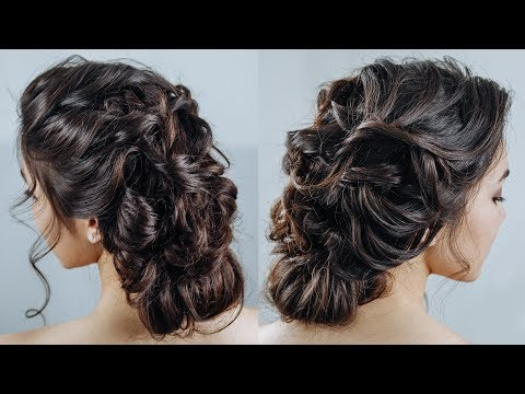 Thumbnail: Messy french braid updo\ Romantic boho braided hairstyle