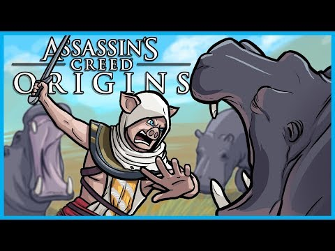 """Assassin's Creed Origins Funtage! - """"ANGRY ANGRY HIPPOS!"""" (AC Origins Funny Moments 
