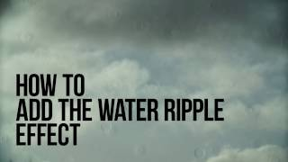 How to add the water ripple effect with VSDC Free Video Editor