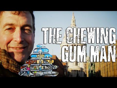 Chewing Gum Man London Millennium Bridge aka Ben Wilson Street Artist