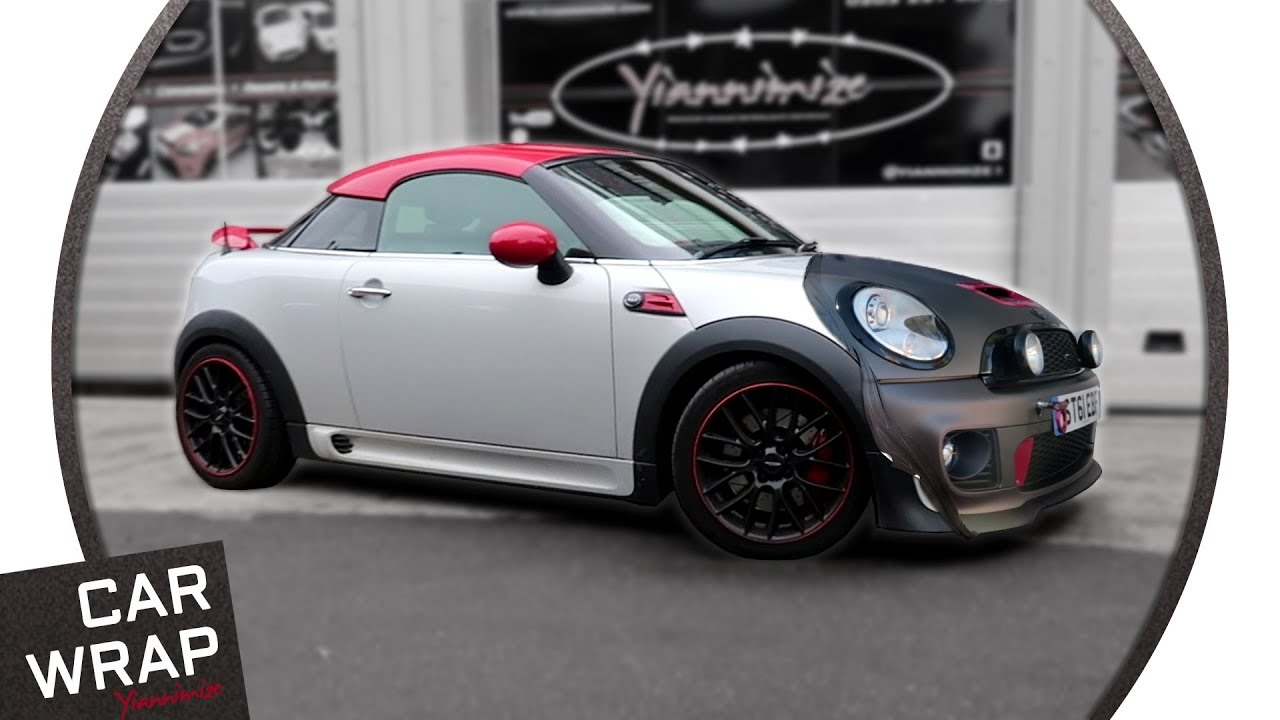 Mini John Cooper Works Coupé Wrapped Matte Charcoal Metallic Youtube