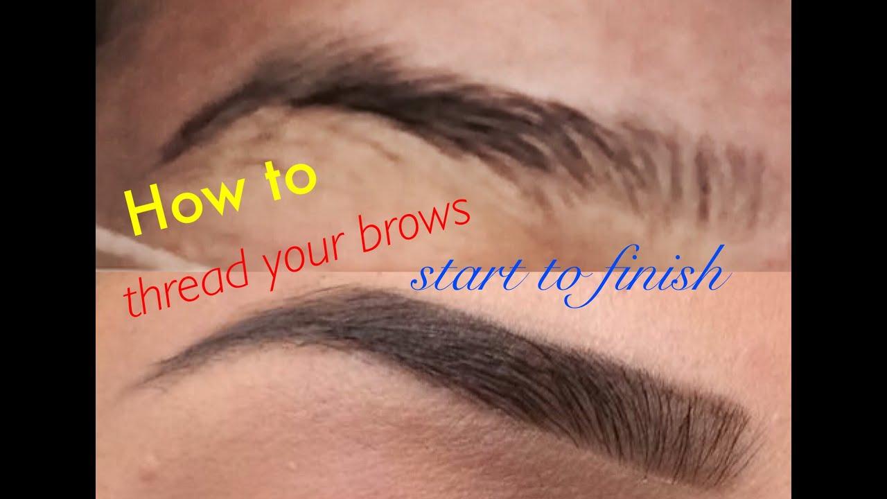 How To Thread Your Own Eyebrows Tutorial Missbeautyguru Youtube