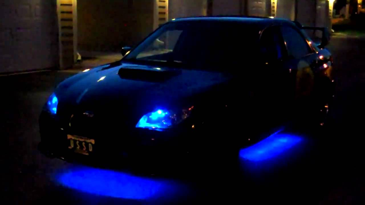 2006 wrx sti with under glow youtube - Underglow neon ...