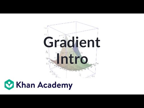 Gradient 1 | Partial derivatives, gradient, divergence, curl | Multivariable Calculus | Khan Academy