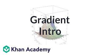 Gradient 1 | Partial derivatives, gradient, divergence, curl | Multivariable Calculus | Khan Academy