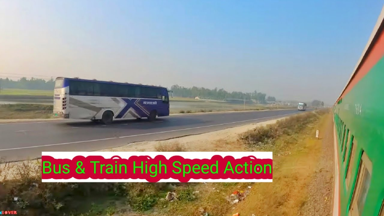 Train Vs Bus High speed Action || Racing  Part 2 || || Dhumketu express Vs Bus Race