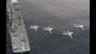 US Navy has put to sea the first ever F-35 aircraft carrier a warning to China and North Korea