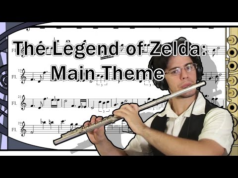 "Let's Play ""The Legend Of Zelda - Title Theme"" on flute (with sheet music)"