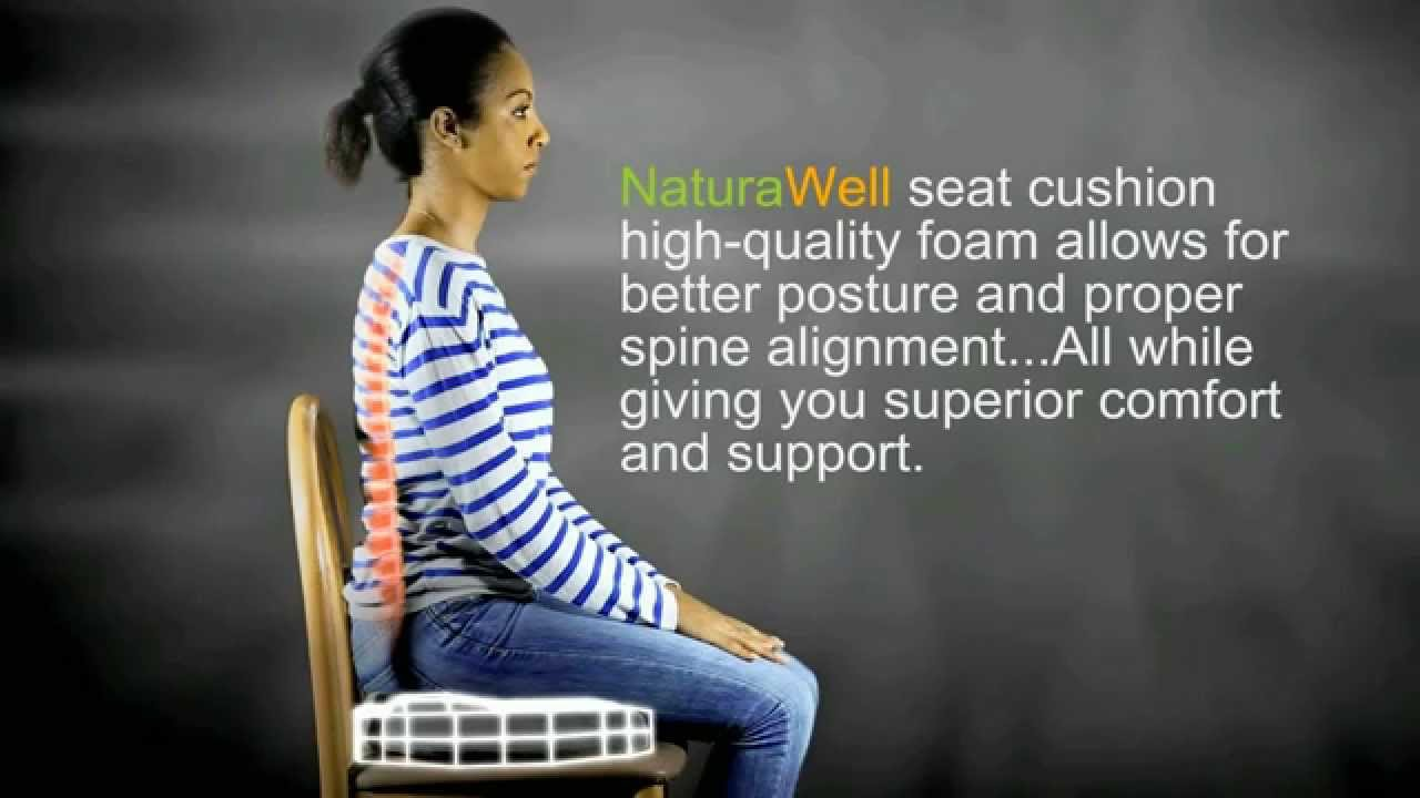 Coccyx Orthopedic Comfort Foam Seat Cushion   YouTube