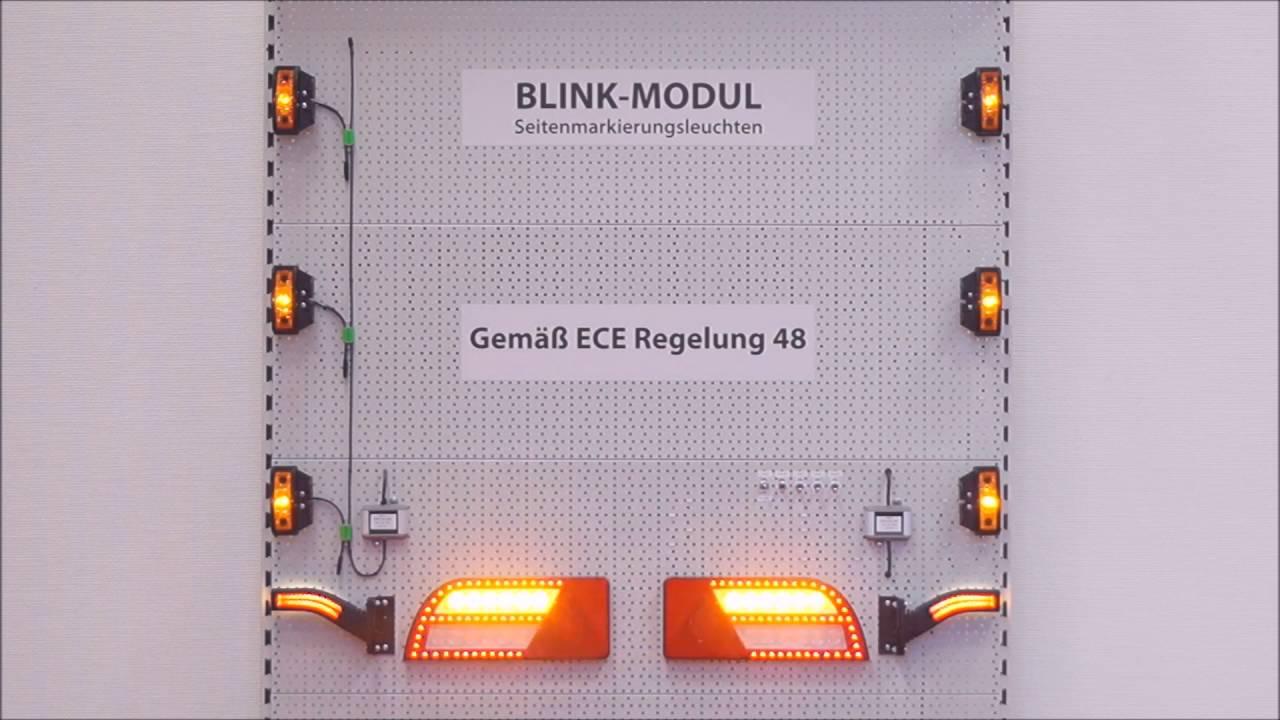 Blinkersteuerung für Seitenmarkierungsleuchten - PRO-BLINK - YouTube