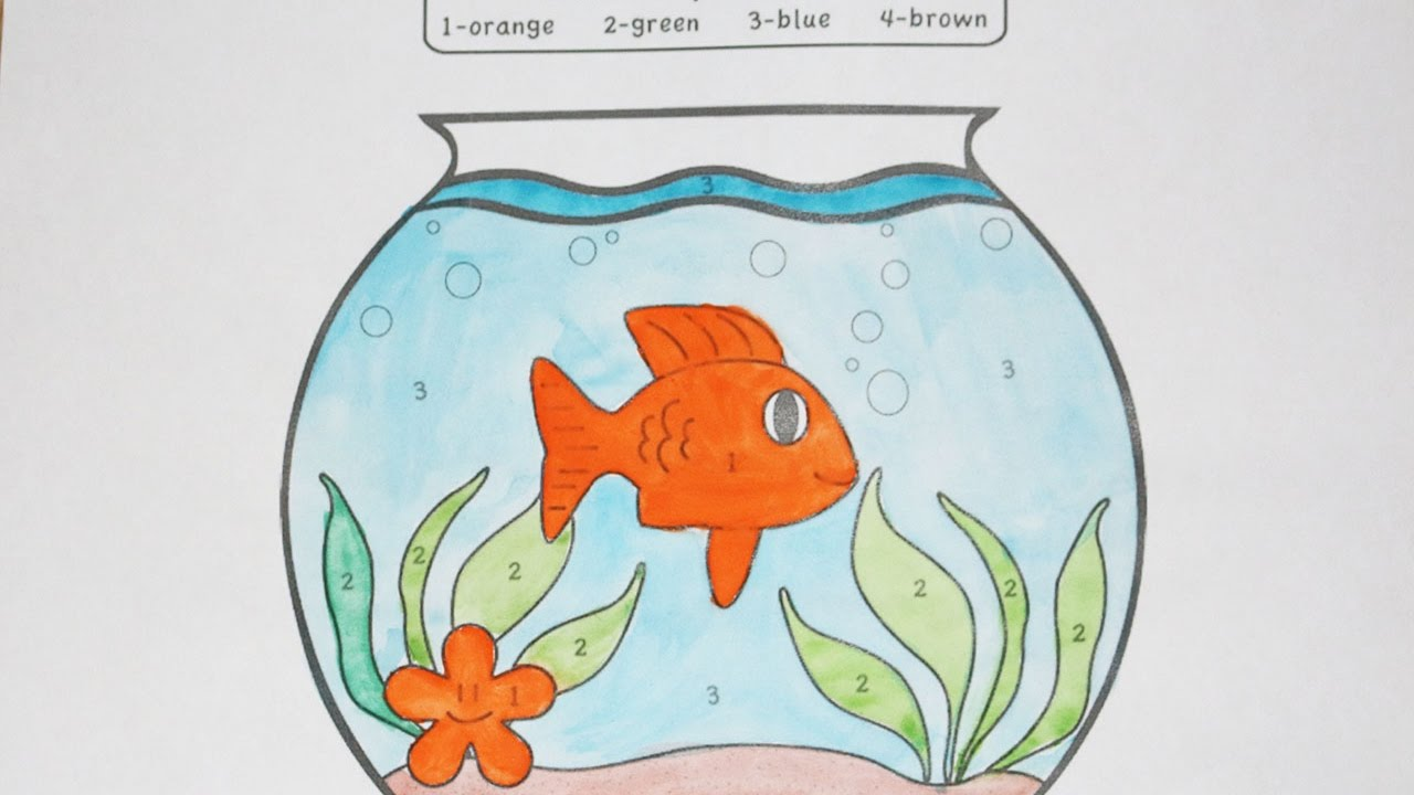 Learn Colors for Kids and Color this Fish Coloring Page - YouTube