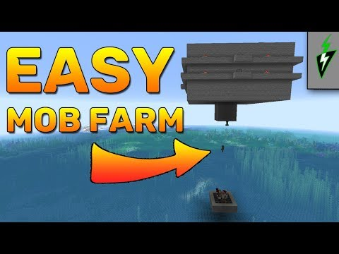 Minecraft 1.14 Mob Farm -  EASY How To Make A Mob Farm - Minecraft Tutorial