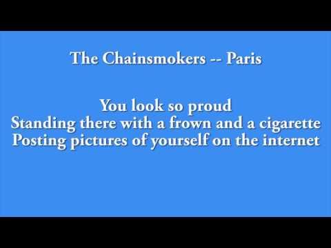 The Chainsmokers - Paris 1 HOUR LOOP AND LYRICS!
