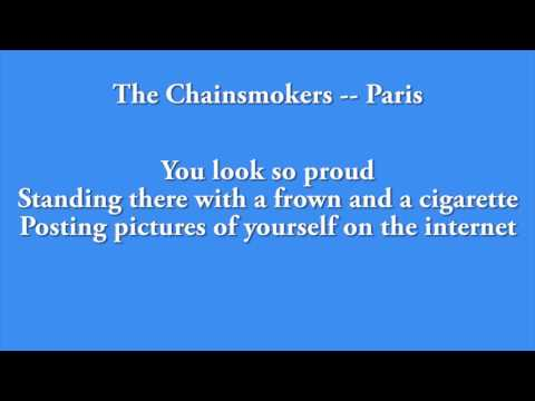 The Chainsmokers - Paris 1 HOUR LOOP AND LYRICS!