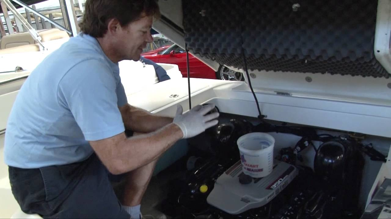 How To: Change Mercruiser Marine Engine Oil by http://MarinePartsPlus com