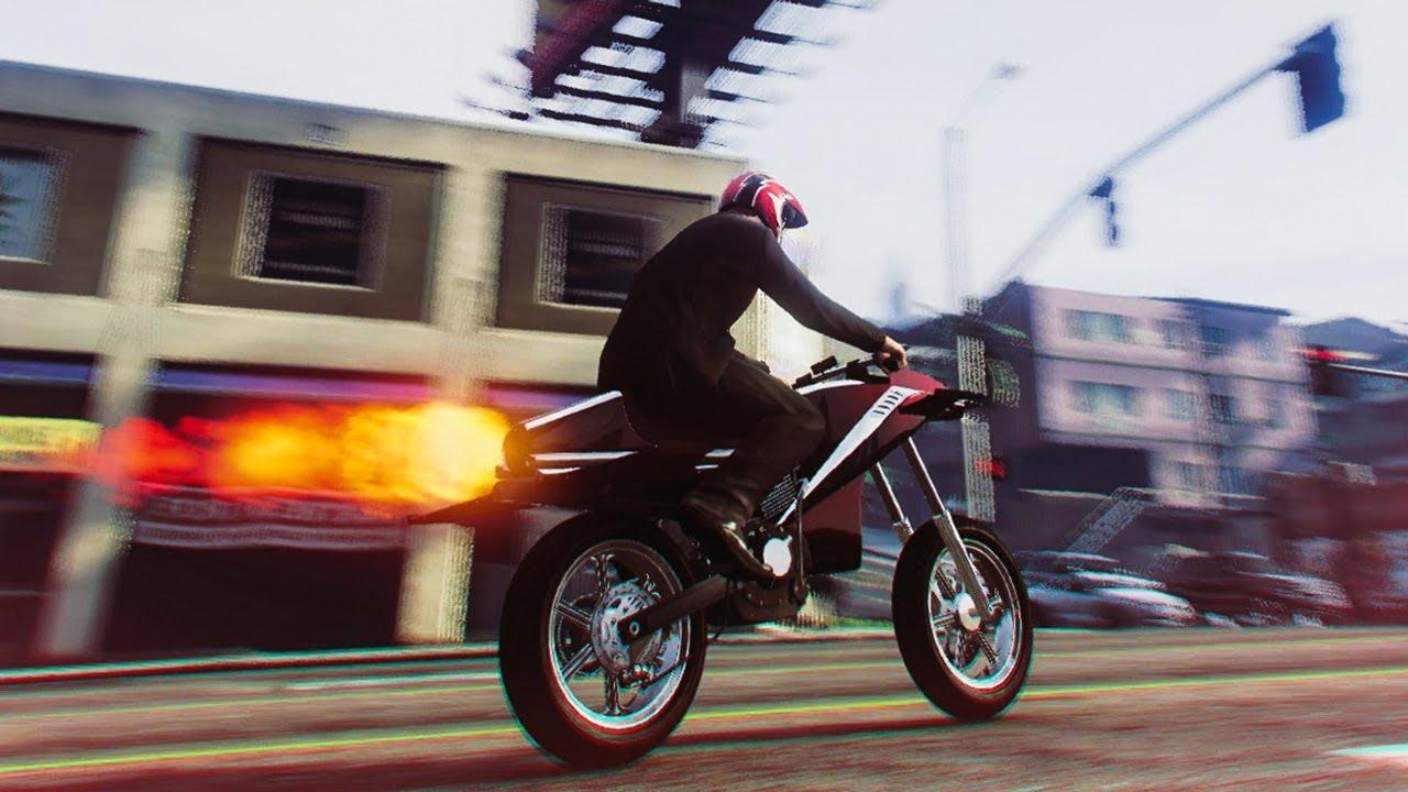 Crazy New Rocket Bike Stunts Gta 5 Dlc Stunts Fails Youtube