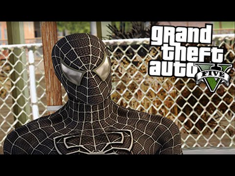 GTA 5 Mods - BLACK SPIDERMAN MOD! (GTA 5 Mod Gameplay)