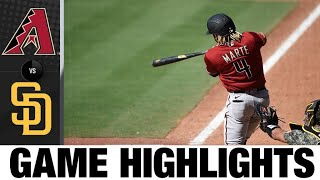 D-Backs rally late to earn their first win | D-Backs-Padres Game Highlights 7/26/20