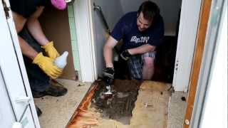Asbestos Kitchen Floor Removal Demo_3
