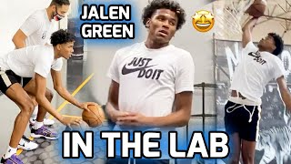Jalen Green Looking Like a #1 PICK! Elite G League Prospect Works Out At Intense Training Session 😈