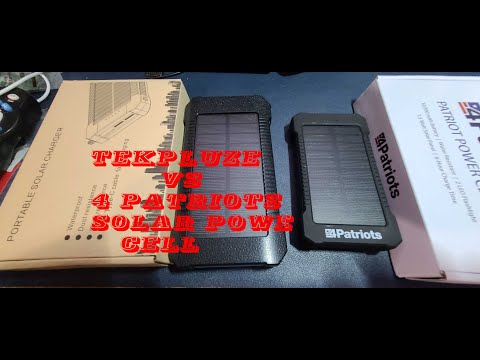 Portable Solar charger -Tekpluze VS 4 Patriots For less than $30 -Wireless  full review & test