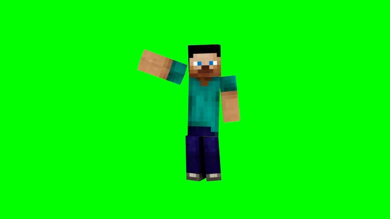 Minecraft Steve Walk Wave Animation Youtube