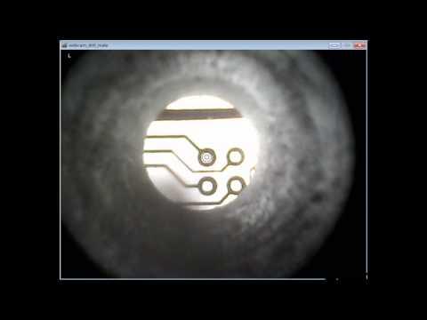 PCB drilling using webcam & custom video overlay software