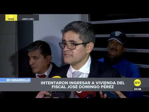 Fiscal José Domingo Pérez denuncia que forzaron la cerradura de su vivienda