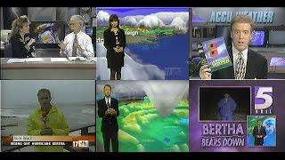 VHS ARCHIVES: Hurricane Bertha 1996 - News Clips