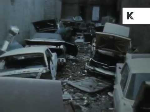 1960s, 1970s New York, Roads, Abandoned Cars