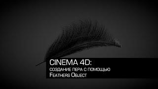 Cinema 4D / создание пера с помощью Feathers Object