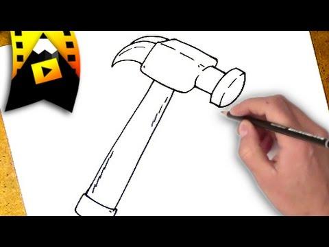 Como dibujar un martillo como dibujar un martillo paso a paso youtube - Pasos para pintar ...