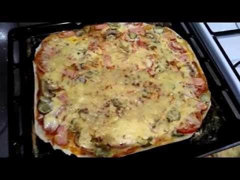 Любимая пицца с шампиньонами.  My favorite pizza with mushrooms