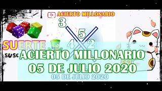 ACIERTO MILLONARIO 05 DE JULIO 2020